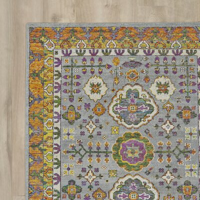 Delrico Hand-Knotted Meadow Area Rug Rug Size: Runner 26 x 8