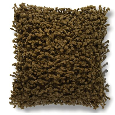 Gia Fuzzy Throw Pillow Color: Brown
