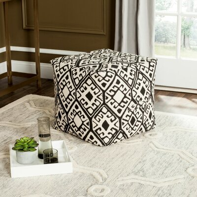 Hoofddorp Pouf Ottoman Upholstery: Black/Natural