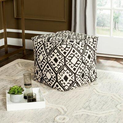 Lebanon Pouf Ottoman Upholstery: Black/Natural