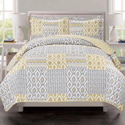 Atlas 3 Piece Quilt Set Size: Full/Queen