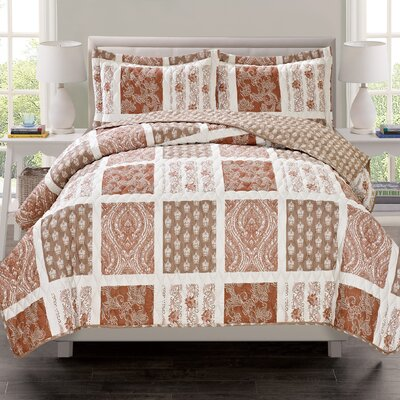 Ceylon 3 Piece Quilt Set Size: King