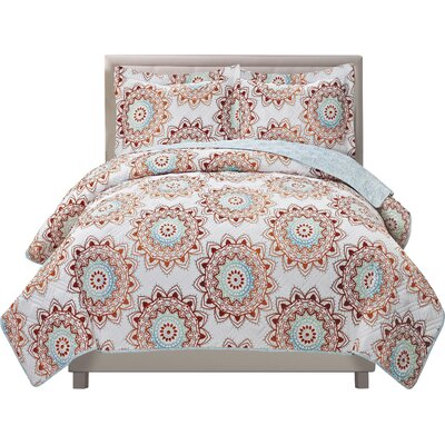 Chandra 3 Piece Quilt Set Size: King