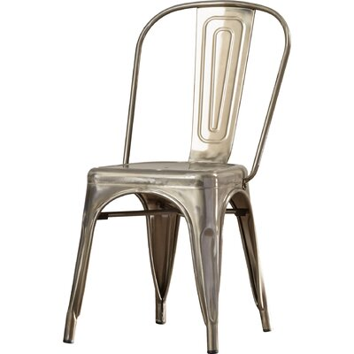 Lawton Side Chair (Set of 2) Finish: Gunmetal