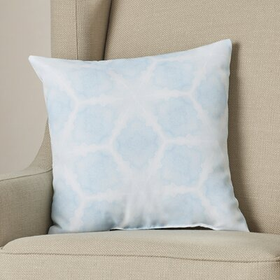 Aanya Indoor/Outdoor Throw Pillow Cover Color: Sky Blue