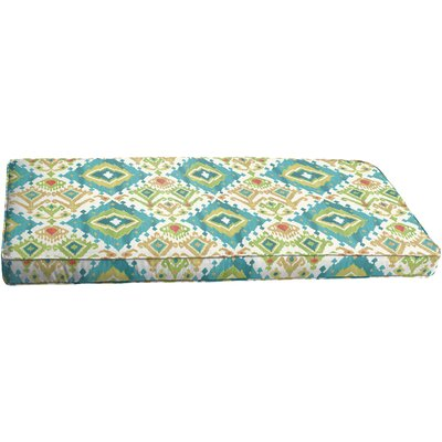 Briget Outdoor Bench Cushion Color: Blue/Green
