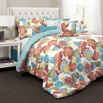 Micha 7 Piece Reversible Comforter Set Size: Queen
