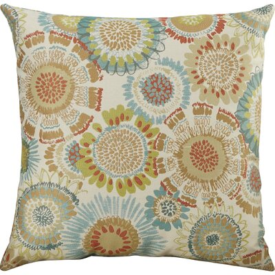 Delancy Aqua Throw Pillow Size: 18 H x 18 W