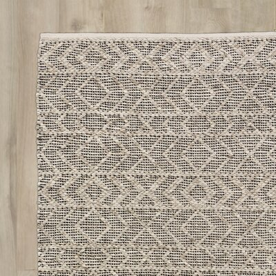 Glass Hand-Woven Gray Area Rug Rug Size: 8 x 10