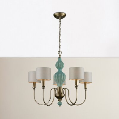 Dormer 5-Light Shaded Chandelier