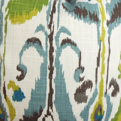 Deeanna Ikat Cotton Throw Pillow Cover Color: Blue Green
