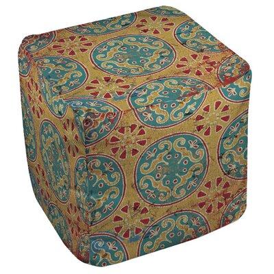 Theo Medallion Cube Ottoman Upholstery: Multi