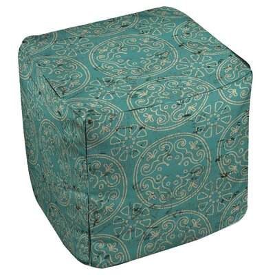 Theo Medallion Ottoman Upholstery: Teal
