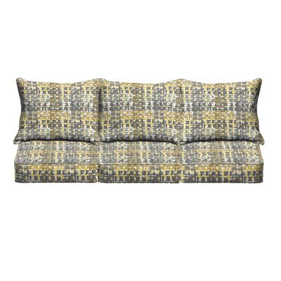 Momea 6 Piece Sofa Cushion Set Fabric: Grey/ Gold