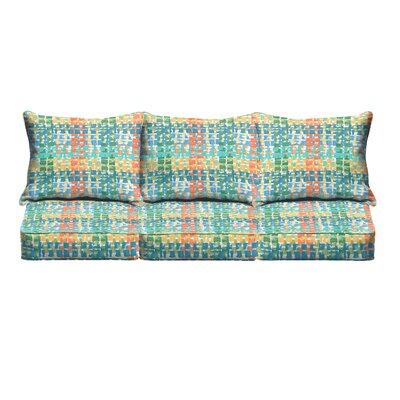 Momea 6 Piece Sofa Cushion Set Fabric: Green/ Red