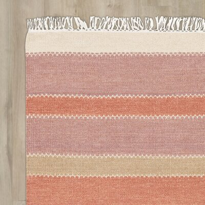 Huffman Hand-Tufted Rust/Mauve Area Rug Rug Size: Rectangle 4 x 6