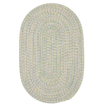 Huntington Hand-Woven Green/Gold Area Rug Rug Size: Oval 2 x 3