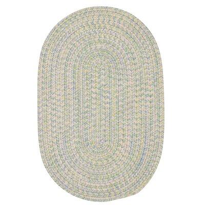Huntington Hand-Woven Green/Gold Area Rug Rug Size: Oval 12 x 15