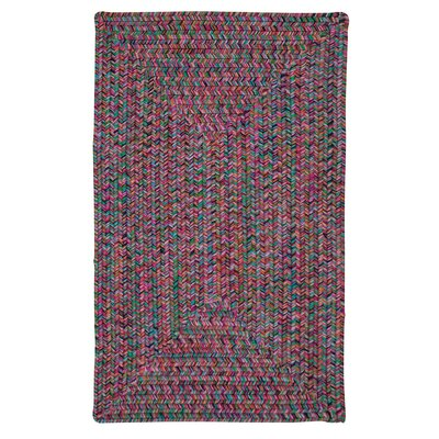 Huntington Hand-Woven Pink/Green Area Rug Rug Size: Round 8