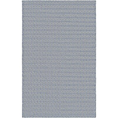 Alonso Hand-Woven Gray/Blue Indoor/Outdoor Geometric Area Rug Rug Size: 5 x 8