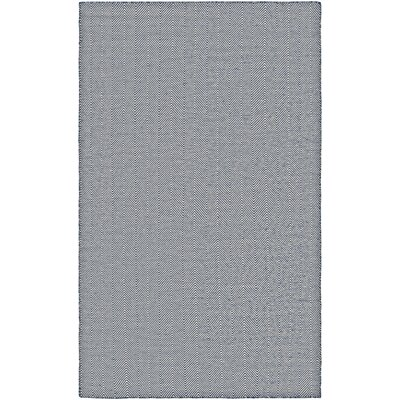 Alonso Hand-Woven Gray/Blue Indoor/Outdoor Chevron Area Rug Rug Size: 8 x 10