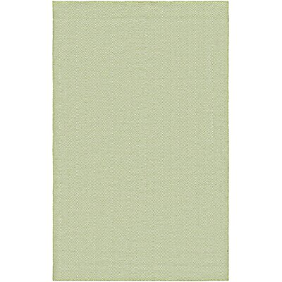 Alonso Hand-Woven Green Indoor/Outdoor Chevron Area Rug Rug Size: 2 x 3
