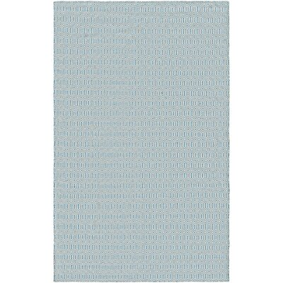 Alonso Hand-Woven Gray/Blue Indoor/Outdoor Area Rug Rug Size: Rectangle 2 x 3