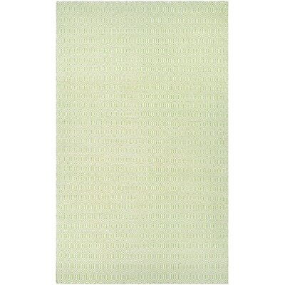 Alonso Hand-Woven Reversible Green Indoor/Outdoor Area Rug Rug Size: 5 x 8