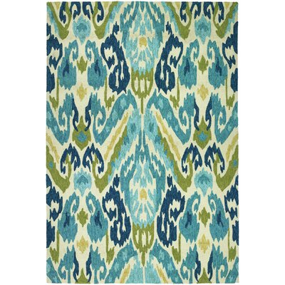 Charlot Hand-Woven Green/Blue Indoor/Outdoor Area Rug Rug Size: Rectangle 36 x 56