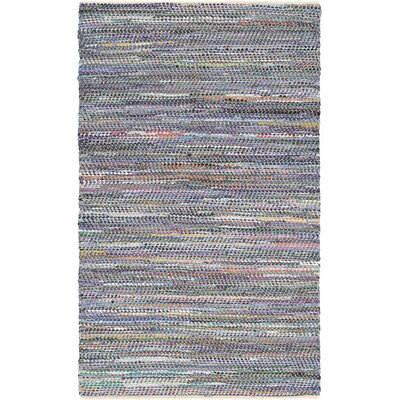 Kaly Hand-Woven Denim/Gray Area Rug Rug Size: 4 x 6