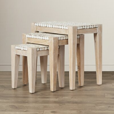 Kepir 3 Piece Nesting Table Set