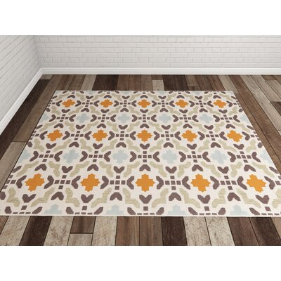 Zahr Cream Area Rug Rug Size: Square 67