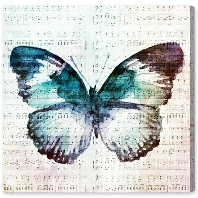 Butterfly Love Graphic Art on Wrapped Canvas