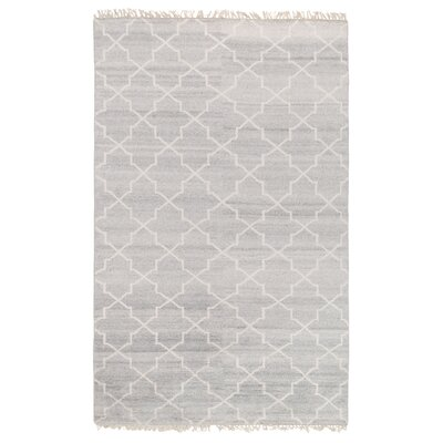 Delray Hand-Knotted Silver Area Rug Rug Size: 8 x 10