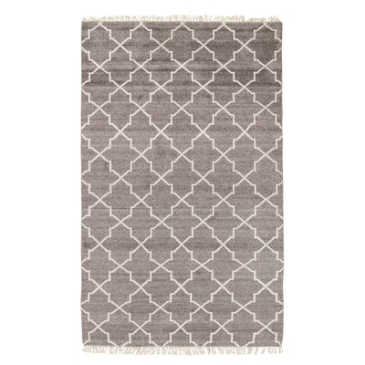 Delray Hand-Knotted Brown Area Rug Rug Size: 5 x 8