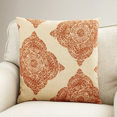Leavenworth Reversible 100% Cotton Throw Pillow Color: Terracotta, Size: 18 x 18