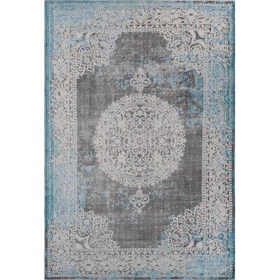 Durand Vintage Blue Area Rug Rug Size: 52 x 72