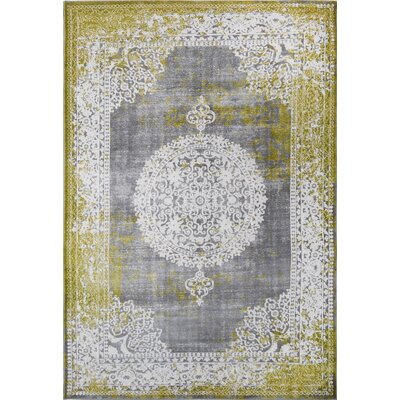 Durand Vintage Green Area Rug Rug Size: 52 x 72
