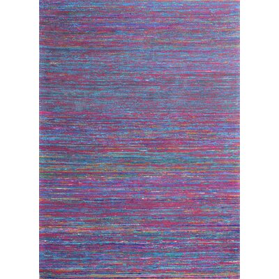 Avenue Hand-Woven Red/Multi Area Rug Rug Size: 59 x 89