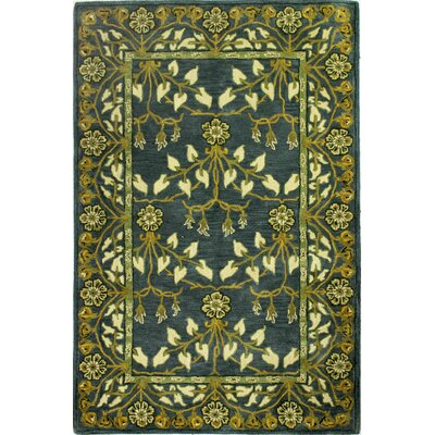 Aviation Hand-Tufted Slate Area Rug Rug Size: Runner 26 x 8