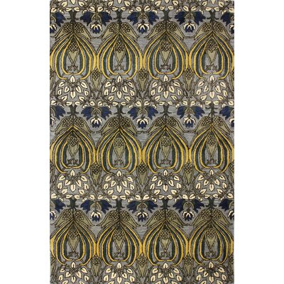 Demarcus Hand-Tufted Grey Area Rug Rug Size: 56 x 86
