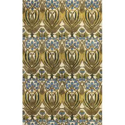 Aviation Hand-Tufted Ivory Area Rug Rug Size: 86 x 116