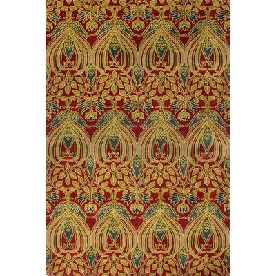 Demarcus Hand-Tufted Red Area Rug Rug Size: 56 x 86