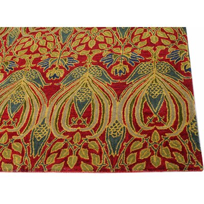 Aviation Hand-Tufted Red Area Rug Rug Size: Runner 26 x 8