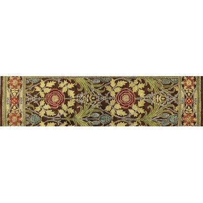 Barney Hand-Tufted Chocolate Area Rug Rug Size: Runner 26 x 8