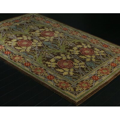 Barney Hand-Tufted Chocolate Area Rug Rug Size: Rectangle 56 x 86
