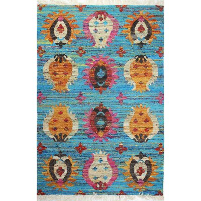 Sheridan Hand-Woven Blue Area Rug Rug Size: 86 x 116