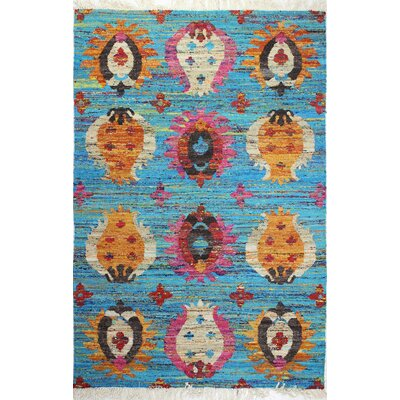 Sheridan Hand-Woven Blue Area Rug Rug Size: 76 x 96