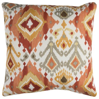 Broadway Indoor/Outdoor Polyester Throw Pillow Color: Rust/Gray