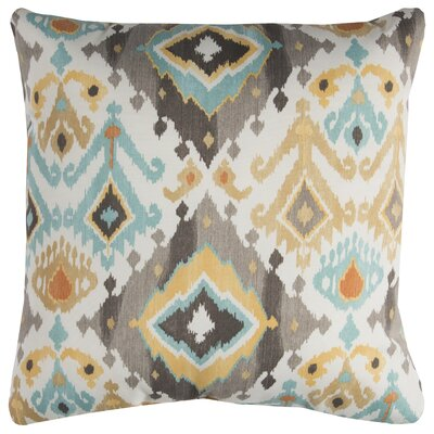 Broadway Indoor/Outdoor Polyester Throw Pillow Color: Gray/Blue